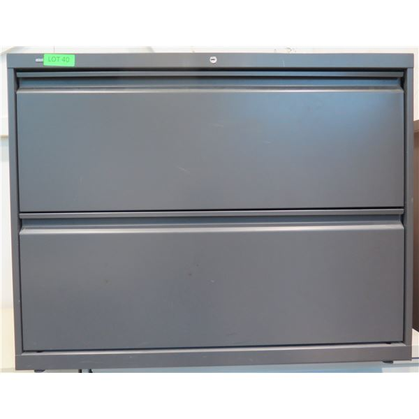 HON Gray Metal 2 Drawer Lateral Legal File Cabinet