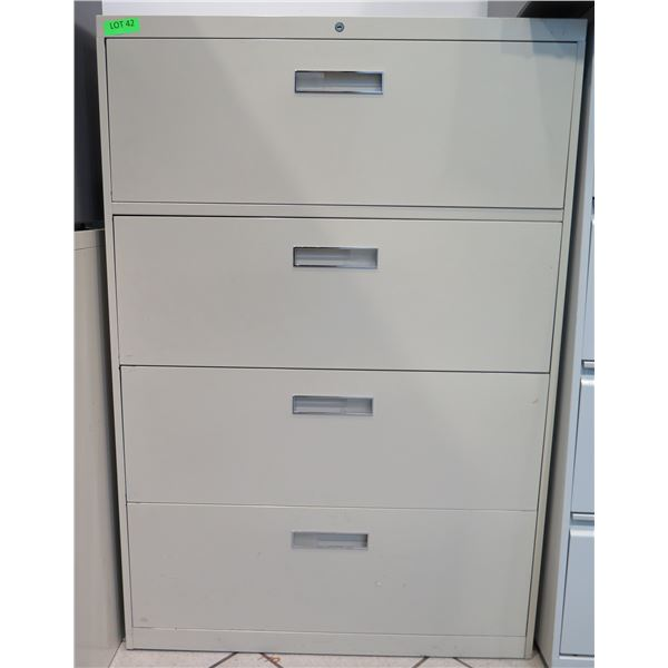 """Beige Metal 4 Drawer Lateral Legal File Cabinet 36""""x18""""x53"""""""