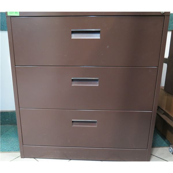 """Harbor Universal Brown Metal 3-Drawer Lateral Legal File Cabinet 36""""x19""""x39"""""""