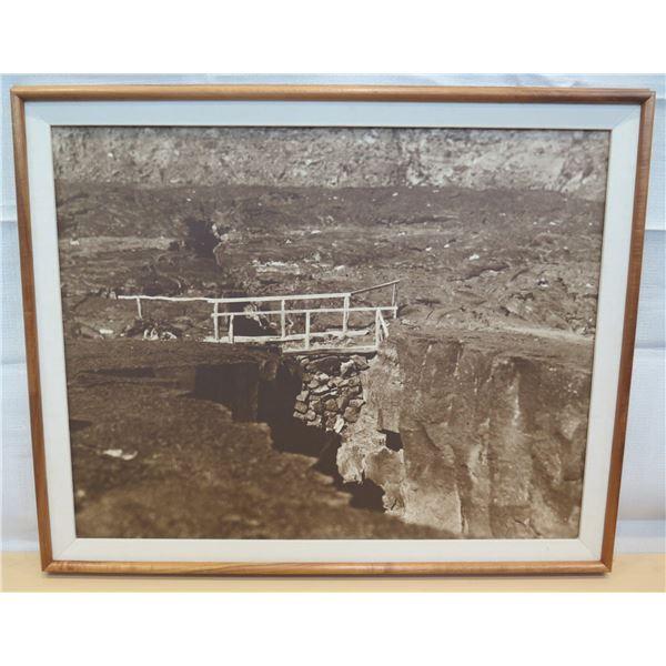 """Black & White Art Print Matted & Wood-Framed 31""""L"""