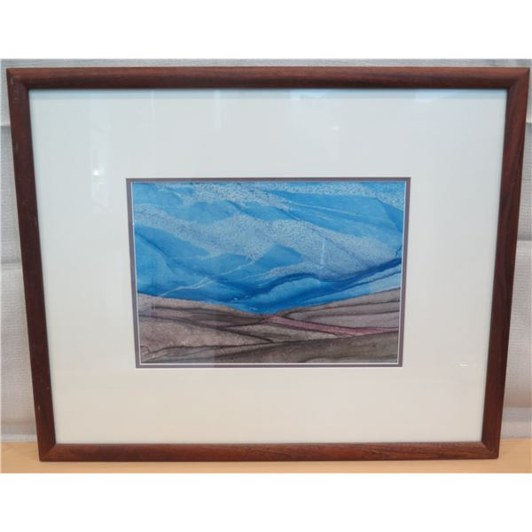 """Certified Art Work Signed by Michael Colombo Matted & Wood-Framed 27""""x21"""""""