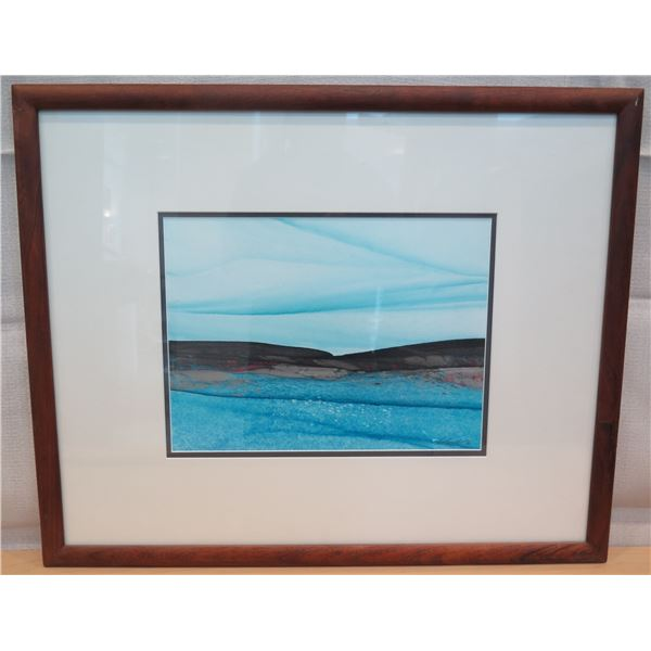"""Certified Art Work Signed by Michael Colombo Matted & Wood-Framed 26""""x22"""""""