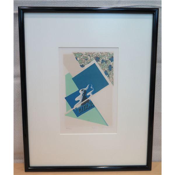"""Abstract Art Work Signed by Artist Helen Gilbert 21/60 Matted & Framed 16""""x19"""""""