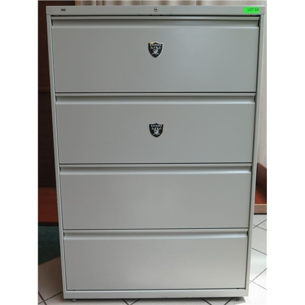 "HON Metal 4 Drawer Lateral Legal File Cabinet 36""x19""x54"""