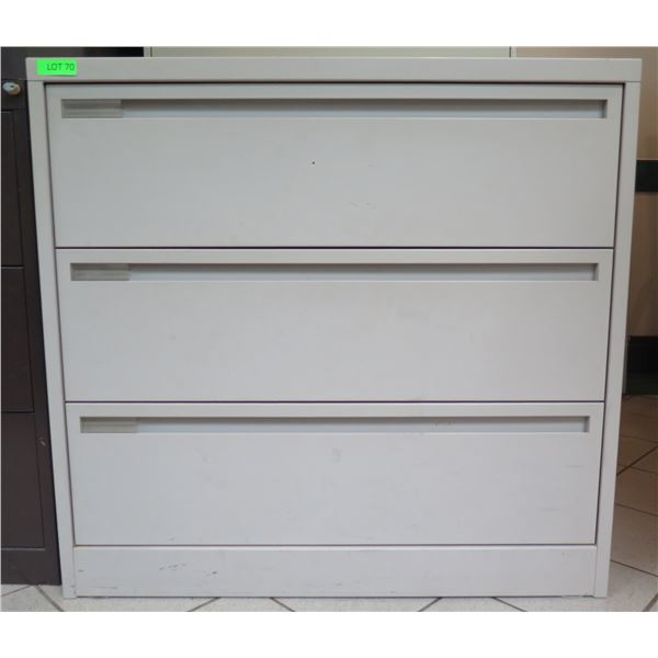 "Harbor Universal Metal 3 Drawer Lateral Legal File Cabinet 41""x19""x39"""