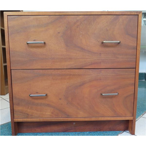 "Wooden 2 Drawer File Cabinet 30""x18""x29"""