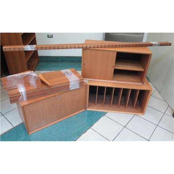 Wooden Modular Shelf Unit Unassembled