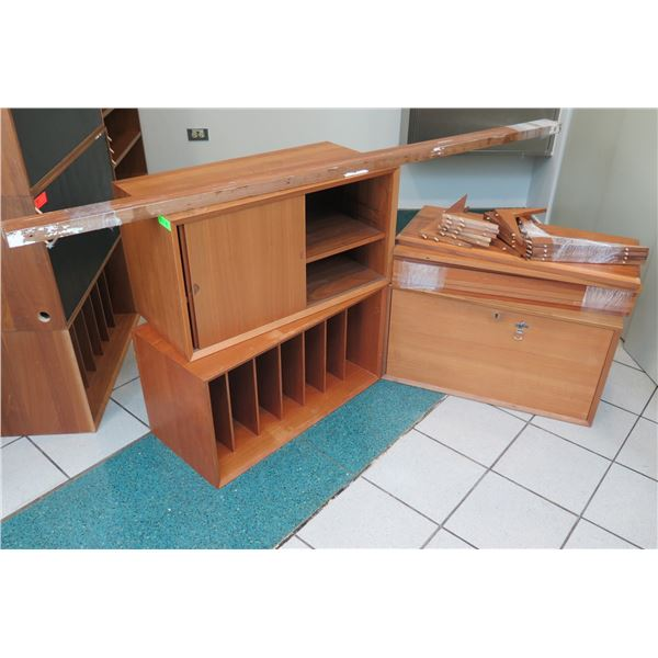 Wooded Modular Shelf Unit Unassembled