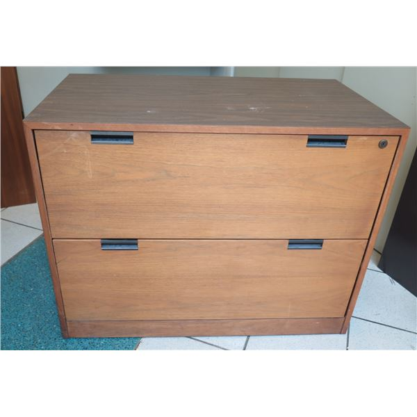 "Wooden 2 Drawer File Cabinet 36""x20""x28"""