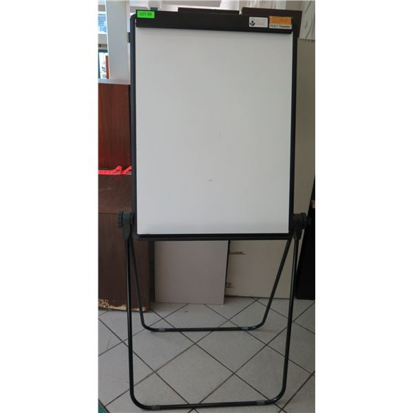 "Pierce Presenter Metal Easel w/ Attached White Board Sign 28""x36"""