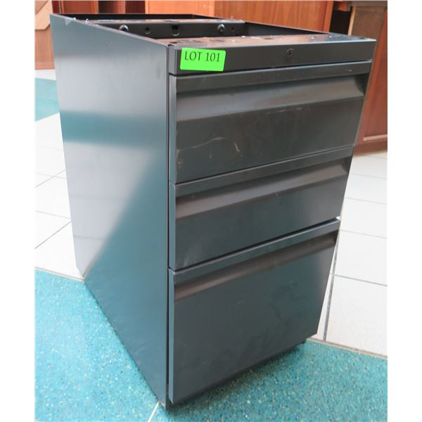 "Metal 3 Drawer Cabinet w/ Open Top 15""x23""x28"""