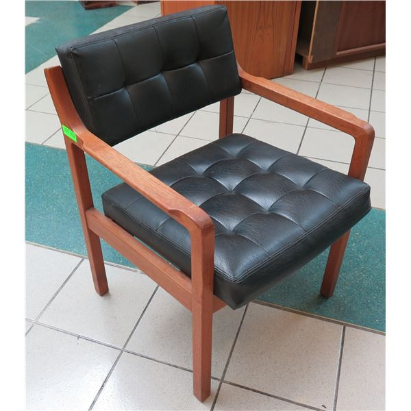 "Wooden Upholstered Arm Chair 24""x19""x32"""