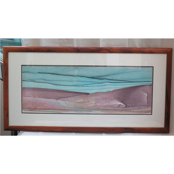 """Certified Art Work Signed by Michael Colombo Matted & Wooden Framed 50""""x26"""""""