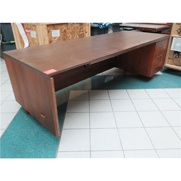 "Large Desk - Has 3 Legs By Design 96"" x 36"" x 31""H"