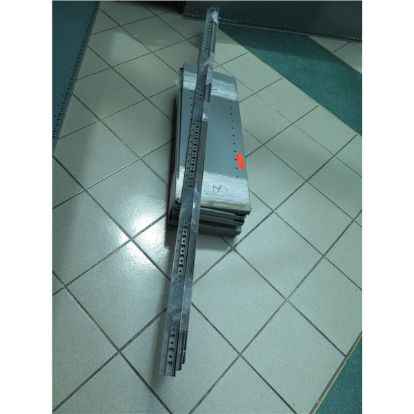 "Metal Shelving Unit w/Corner Spines & Metal Shelving Decks 86""H"