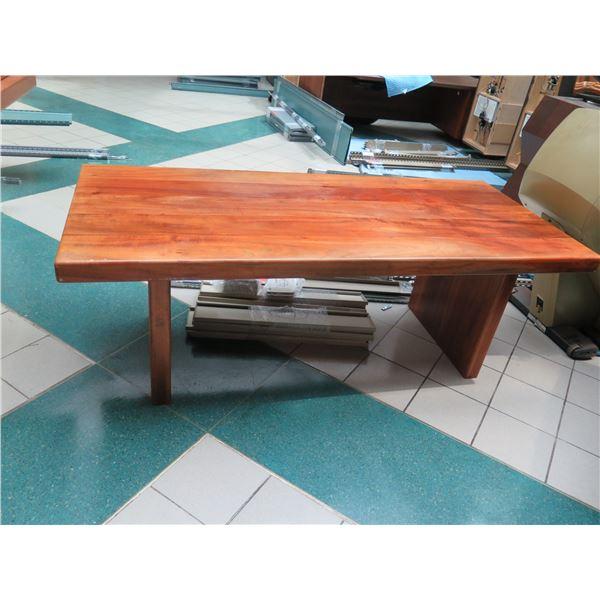 "Wooden Desk / Table 82"" x 36"" x 29""H"