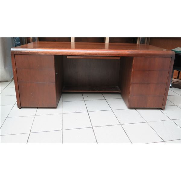 """Large Wooden Desk with Drawers 72"""" x 36"""" x 30""""H"""