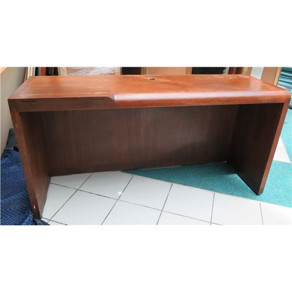 """Wooden Credenza (No Drawers) - Was Designed to Attach to Another Component 59"""" x 19"""" x 30""""H"""