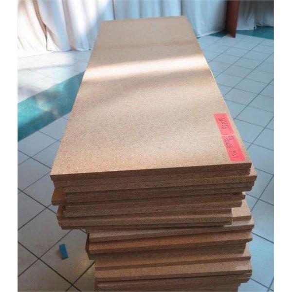 "30 Sheets of Pressboard Shelving Sheets 42"" x 15"""