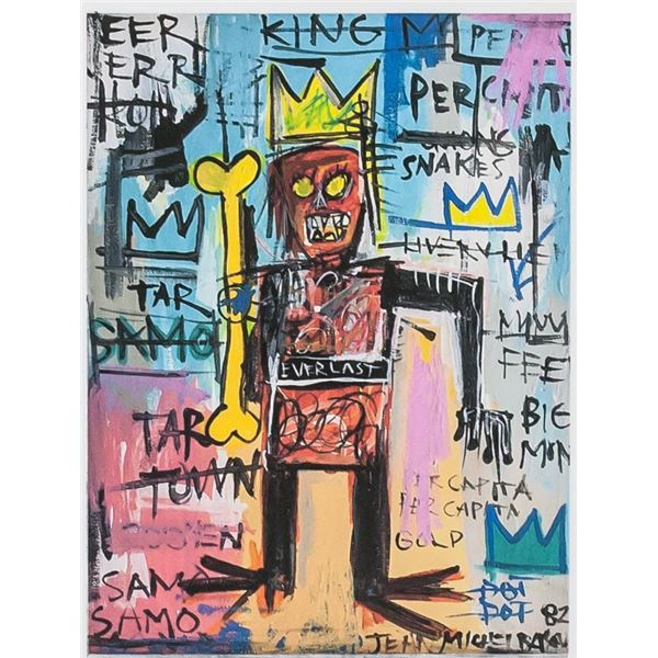 Jean-Michel Basquiat American Signed Litho 12/250