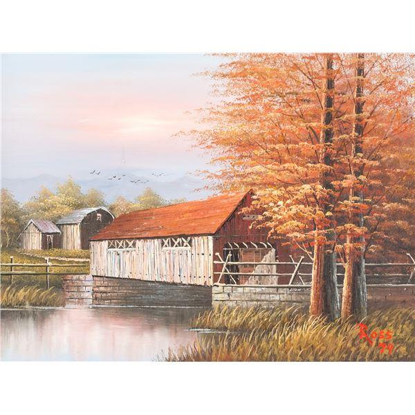"Bob Ross American Acrylic on Canvas ""79"""