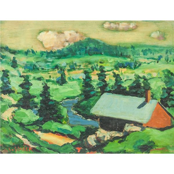 Leslie Schalk Canadian Oil on Panel Landscape