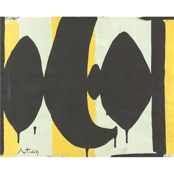 Robert Motherwell American Abstract Oil on Canvas