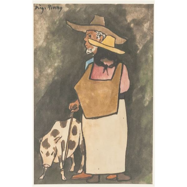 Diego Rivera Mexican Modernist Signed Litho 65/75