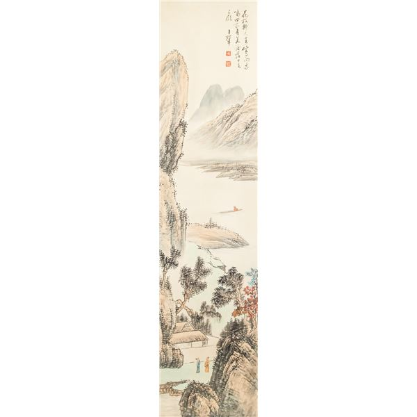 Wang Hui Chinese 1632-1717 Watercolor on Paper