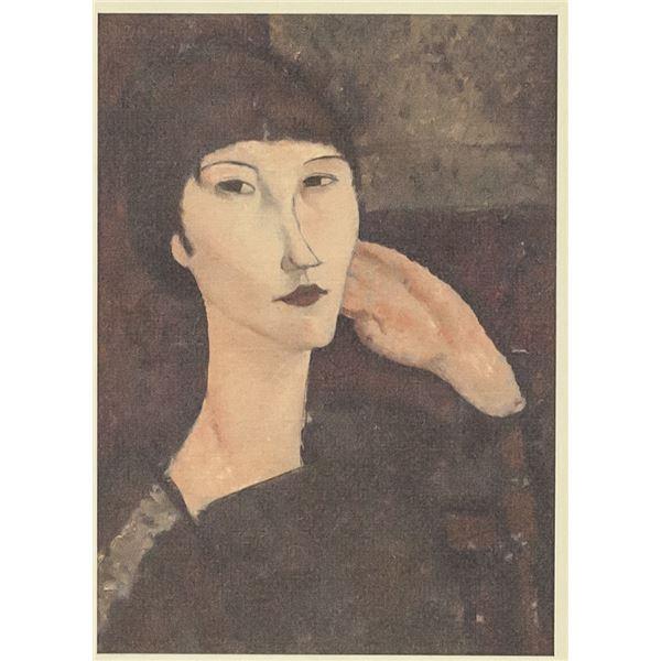Amedeo Modigliani Italian Signed Linocut X/C