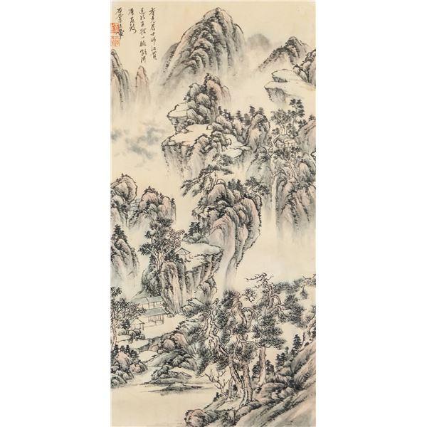 Wang Hui 1632-1717 Chinese Watercolor Landscape