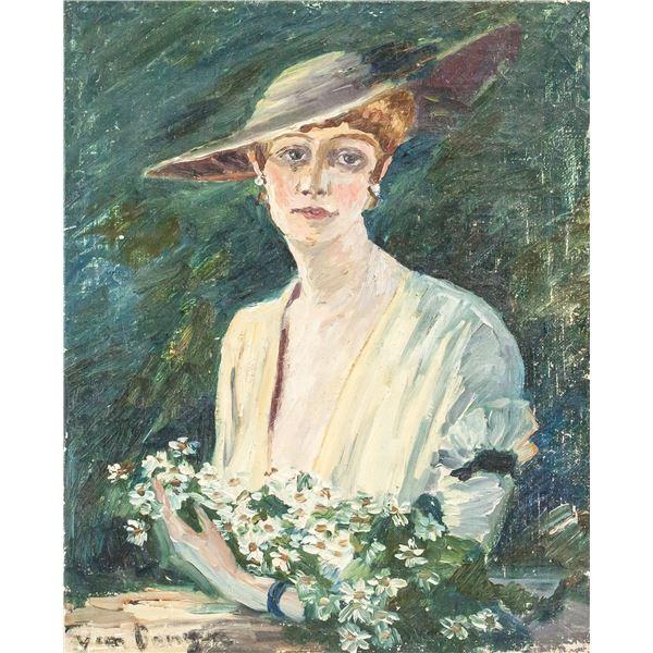 Kees Van Dongen Dutch Oil on Canvas Portrait