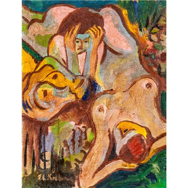 Ernst Ludwig Kirchner German Oil KUNSTGALERIE 1881