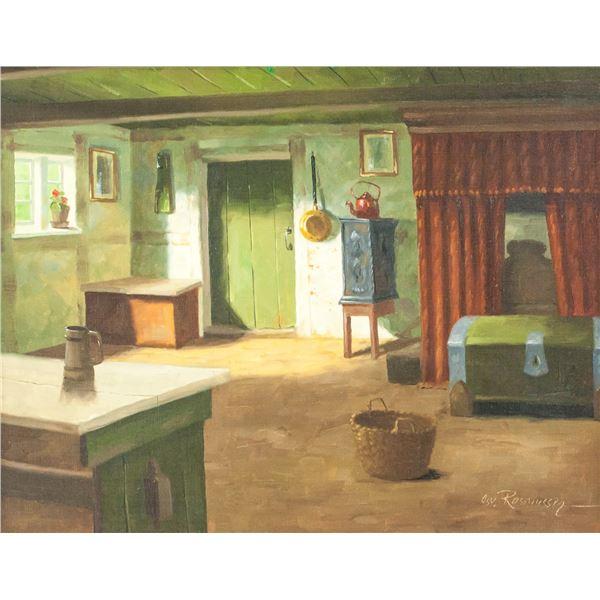 Osvald Rasmussen Danish Oil on Canvas