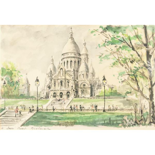 Gabrielle Ardant French Watercolor Landscape