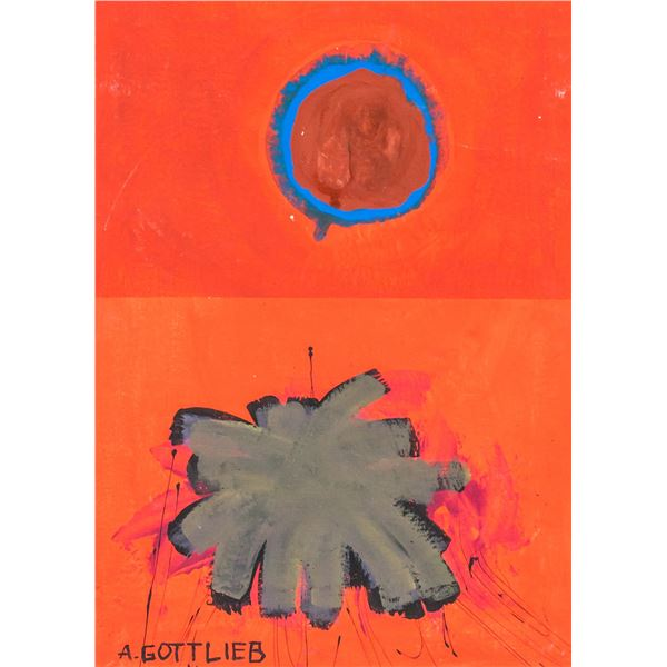 Adolf Gottlieb American Abstract Oil on Canvas