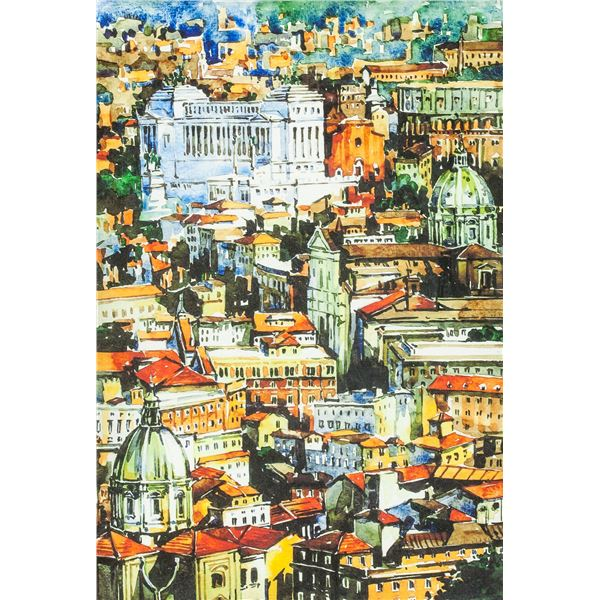 """Lithograph on Paper Framed """"ROMA"""""""