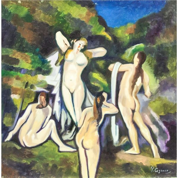 Paul Cezanne French Modernist Oil on Canvas