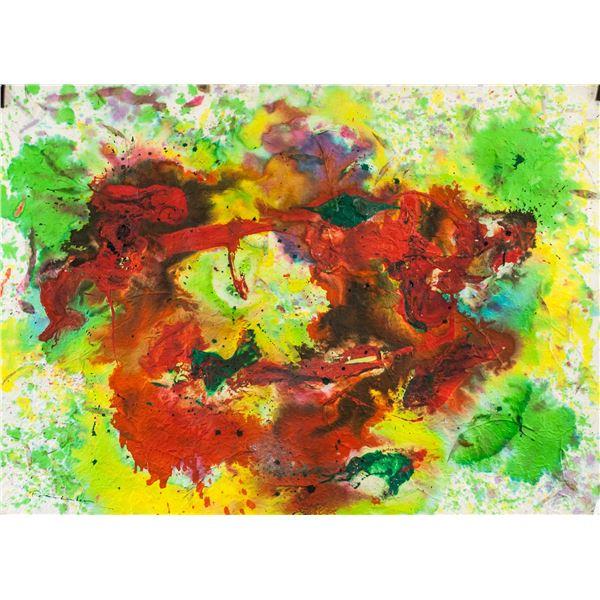 Helen Frankenthaler American Mixed Media on Paper