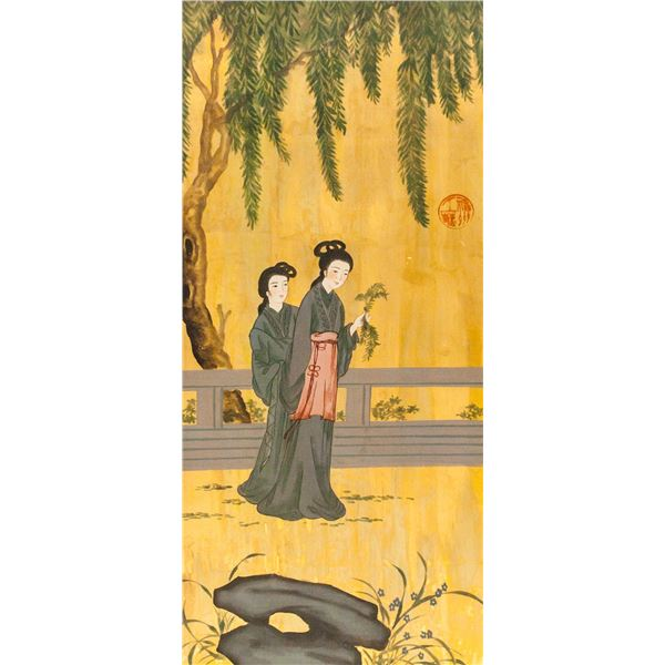 Chinese Painting on Wood Panel
