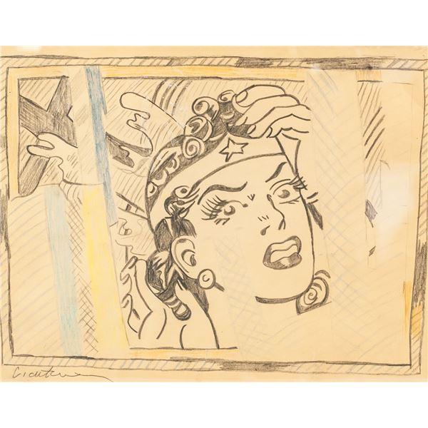 Roy Lichtenstein American Pop Mixed Media on Paper