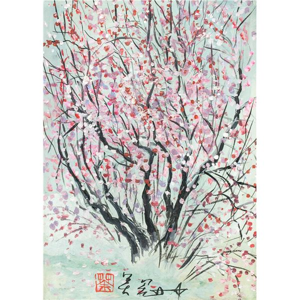 Wu Guanzhong Chinese Modernist Oil on Canvas