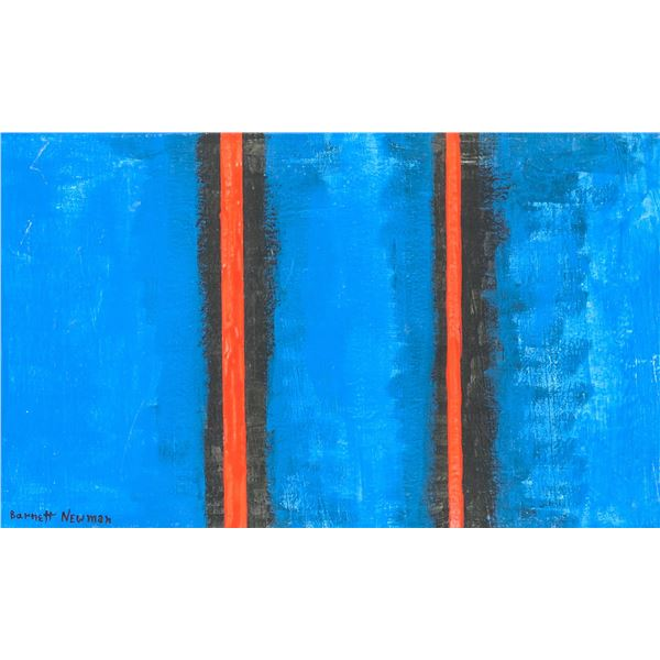 Barnett Newmann American Oil on Canvas
