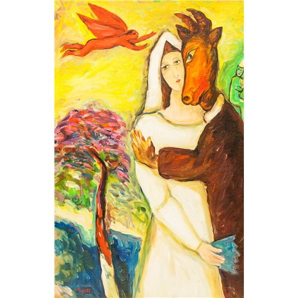 Marc Chagall Russian-French Oil on Canvas