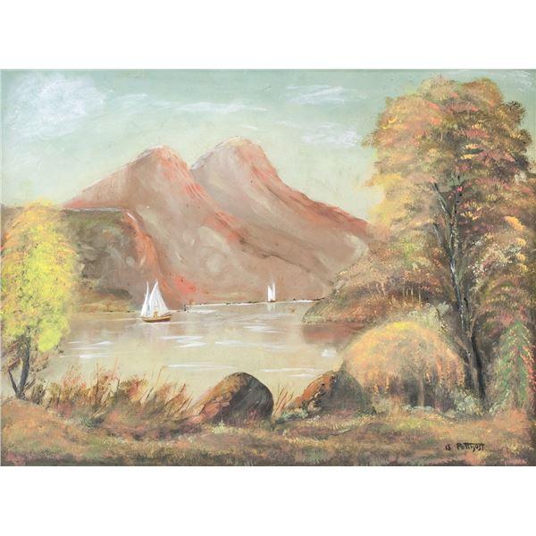 Edward Potthast American Oil on Canvas Landscape