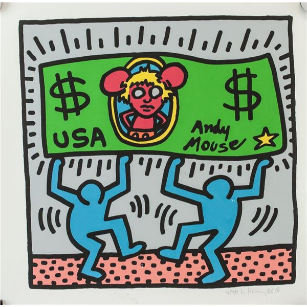 Keith Haring American Signed Lithograph A.P. 1/8