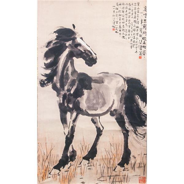 Xu Beihong 1895-1953 Chinese Lithography Horse