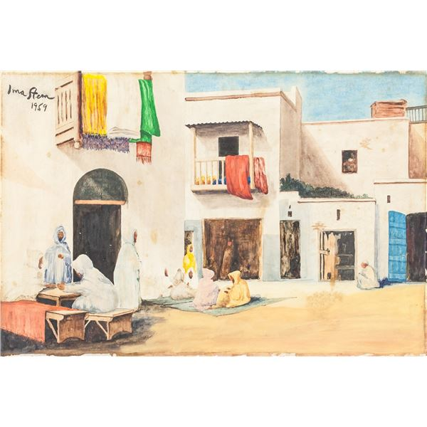 Irma Stern South African Watercolor on Board