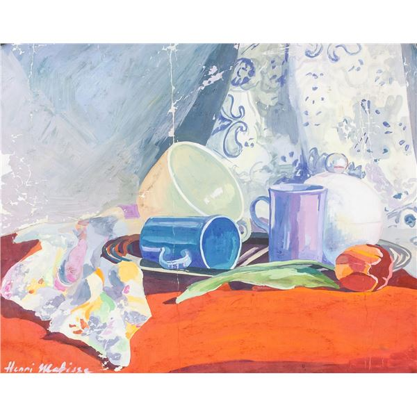 Henri Matisse French Fauvist Oil on Paper