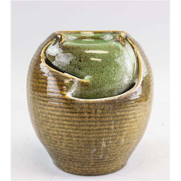 Asian Flambe Glazed Porcelain Censer
